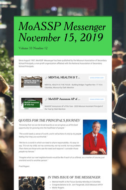 MoASSP Messenger November 15, 2019