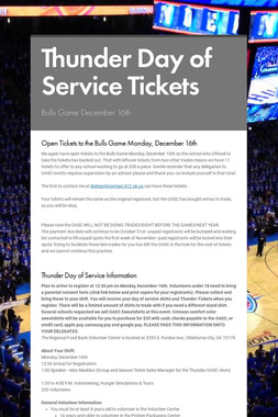 Thunder Day of Service Tickets
