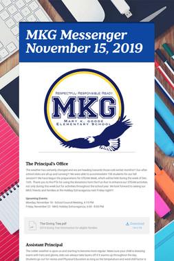 MKG Messenger November 15, 2019