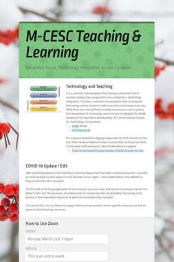 M-CESC Teaching & Learning