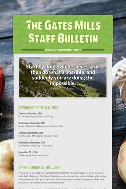 The Gates Mills Staff Bulletin
