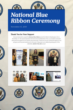 National Blue Ribbon Ceremony