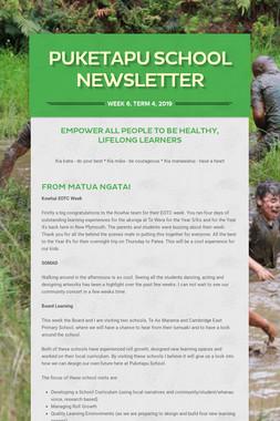 Week 6, Puketapu School Newsletter