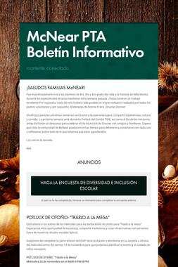 McNear PTA Boletín Informativo