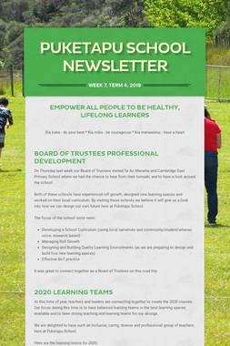 Week 7, Puketapu School Newsletter