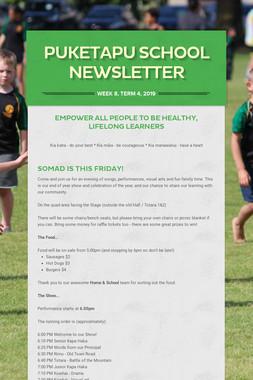 Week 8, Puketapu School Newsletter