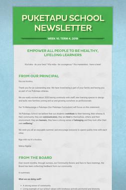 Week 10, Puketapu School Newsletter