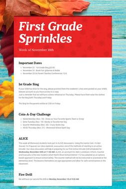 First Grade Sprinkles