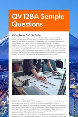 QV12BA Sample Questions