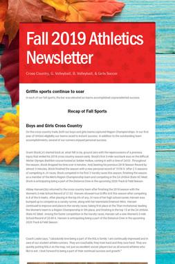 Fall 2019 Athletics Newsletter