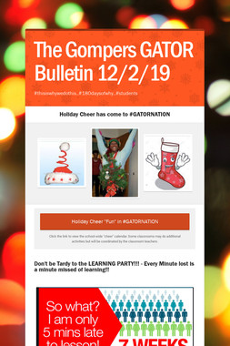 The Gompers GATOR Bulletin 12/2/19
