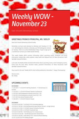 Weekly WOW - November 23