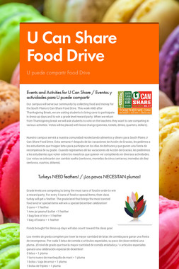 U Can Share Food Drive