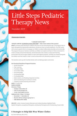 Little Steps Pediatric Therapy News