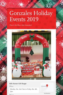 Gonzales Holiday Events 2019