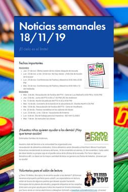 Noticias semanales 18/11/19