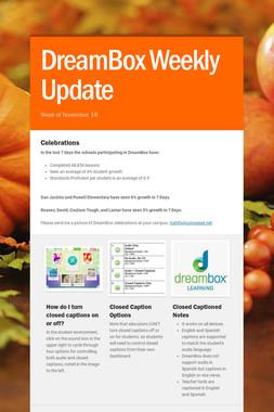 DreamBox Weekly Update