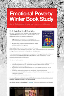 Emotional Poverty Winter Book Study