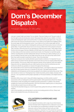 Dorn's December Dispatch