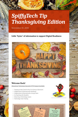 SpiffyTech Tip Thanksgiving Edition