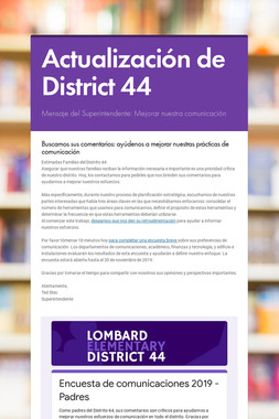 Actualización de District 44