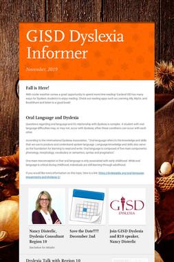 GISD Dyslexia Informer