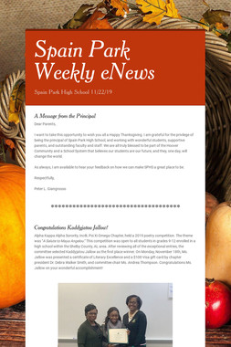 Spain Park Weekly eNews
