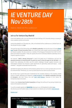 IE VENTURE DAY Nov 28th