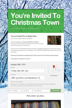 You're Invited To Christmas Town