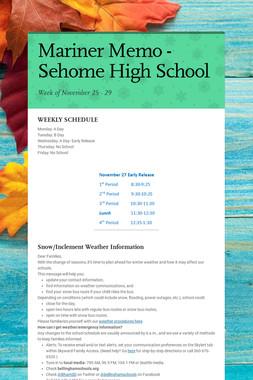 Mariner Memo - Sehome High School