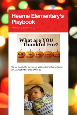 Hearne Elementary's Playbook