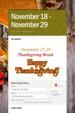 November 18 - November 29