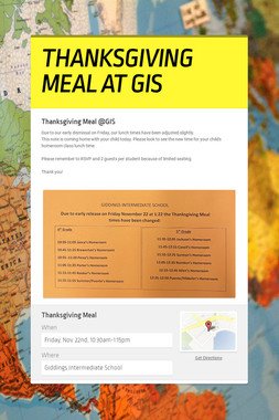 THANKSGIVING MEAL AT GIS