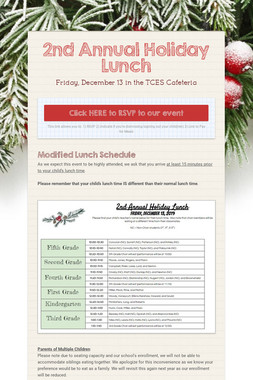 2nd Annual Holiday Lunch