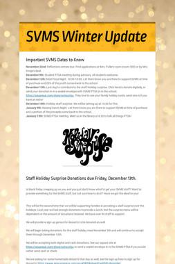SVMS Winter Update