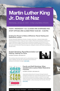 Martin Luther King Jr. Day at Naz