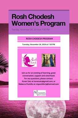 Rosh Chodesh Women's Program