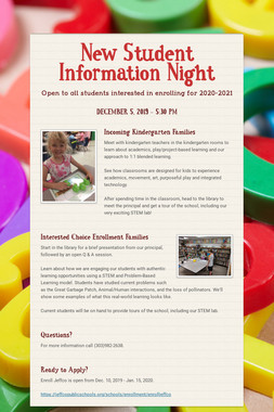 New Student Information Night