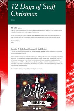 12 Days of Staff Christmas