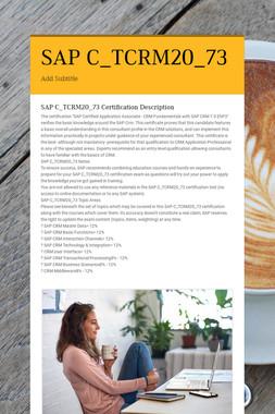SAP C_TCRM20_73