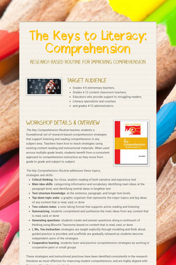 The Keys to Literacy: Comprehension