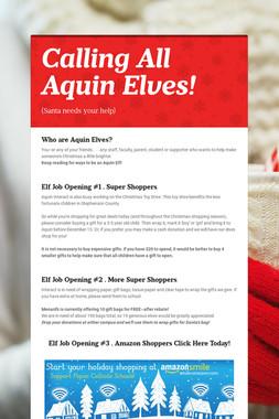 Calling All Aquin Elves!