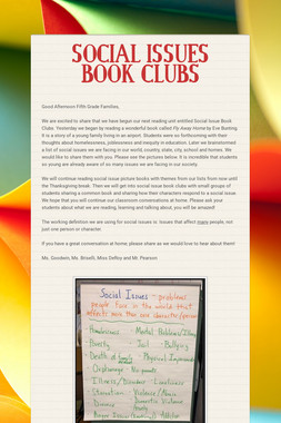 SOCIAL ISSUES BOOK CLUBS