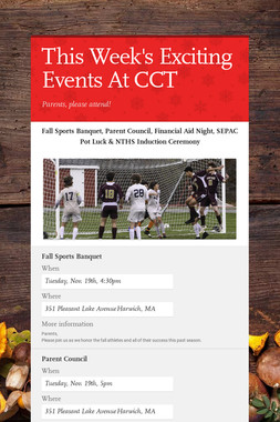 This Week's Exciting Events At CCT