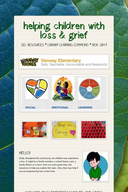 helping children with loss & grief