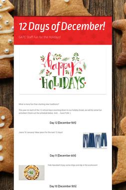12 Days of December!