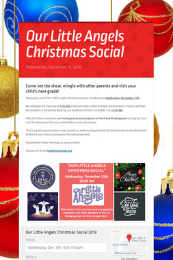 Our Little Angels Christmas Social