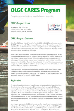 OLGC CARES Program