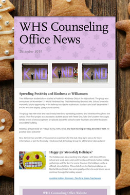 WHS Counseling Office News