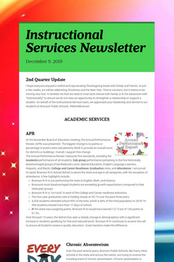 Instructional Services Newsletter